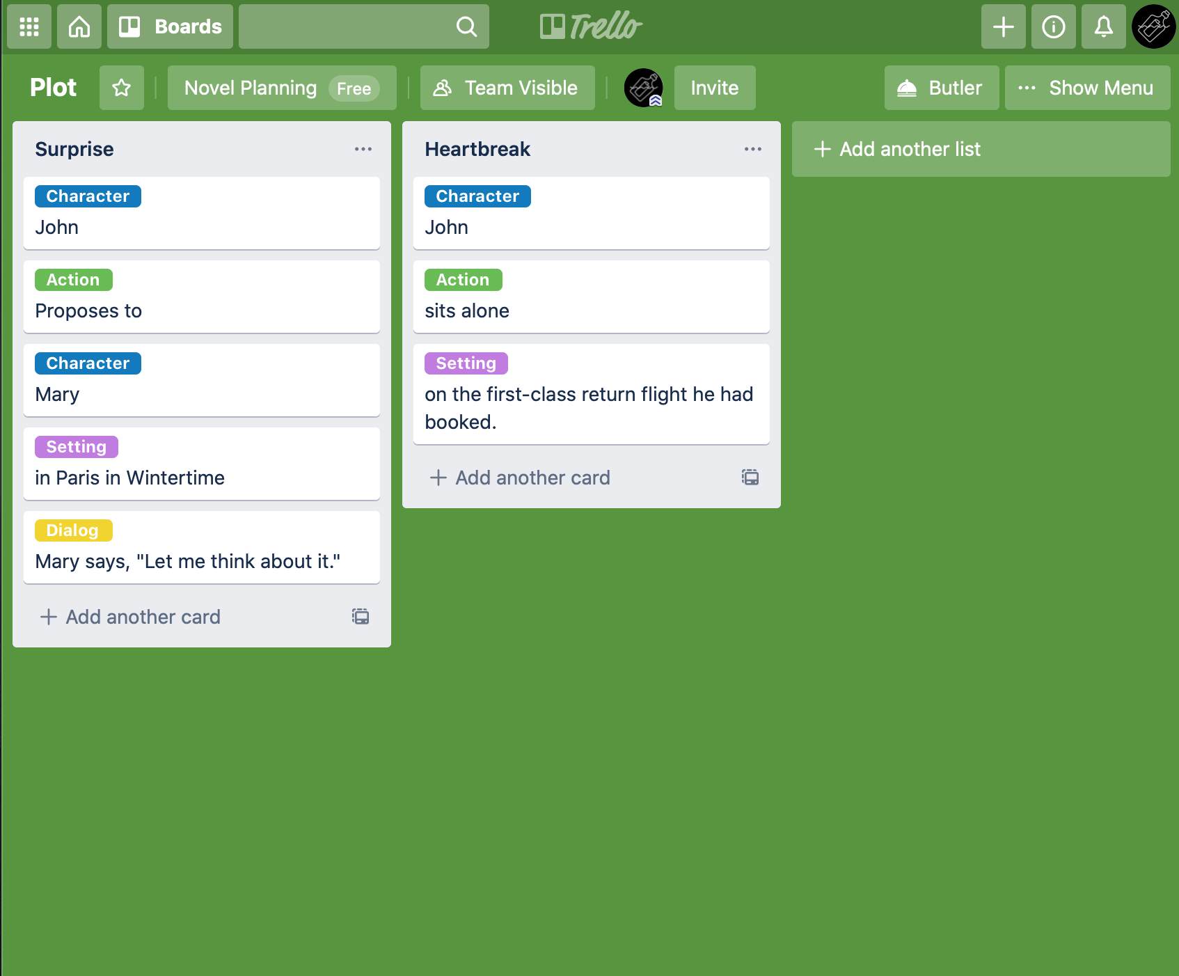 Image created by author using Trello