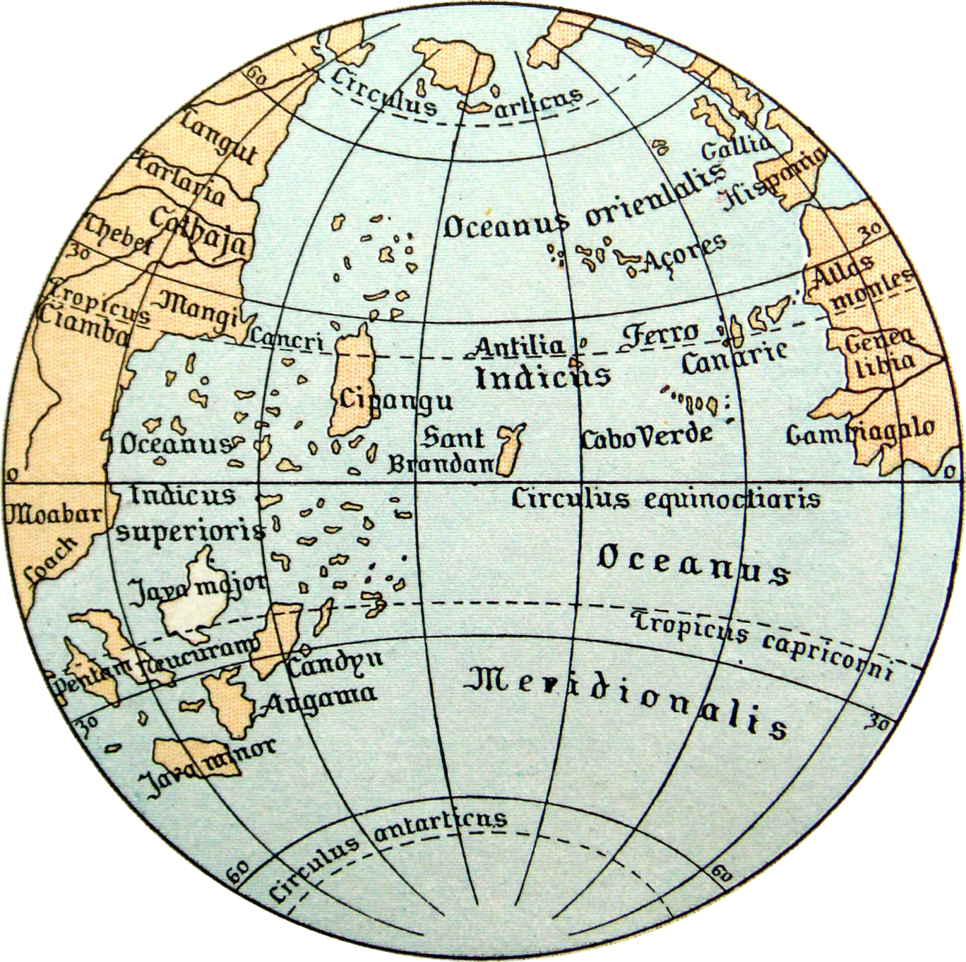 1492 Ocean Map by Martin Behaim - Wikimedia Commons